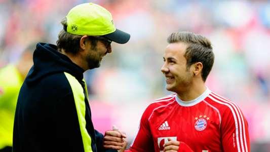 Jurgen Klopp Mario Gotze Dortmund Bayern