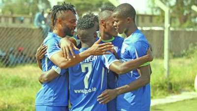 Bandari Players celebrate a goal