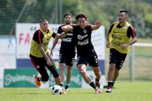 Nicolás Castillo Igor Lichnovsky Chile training 270518
