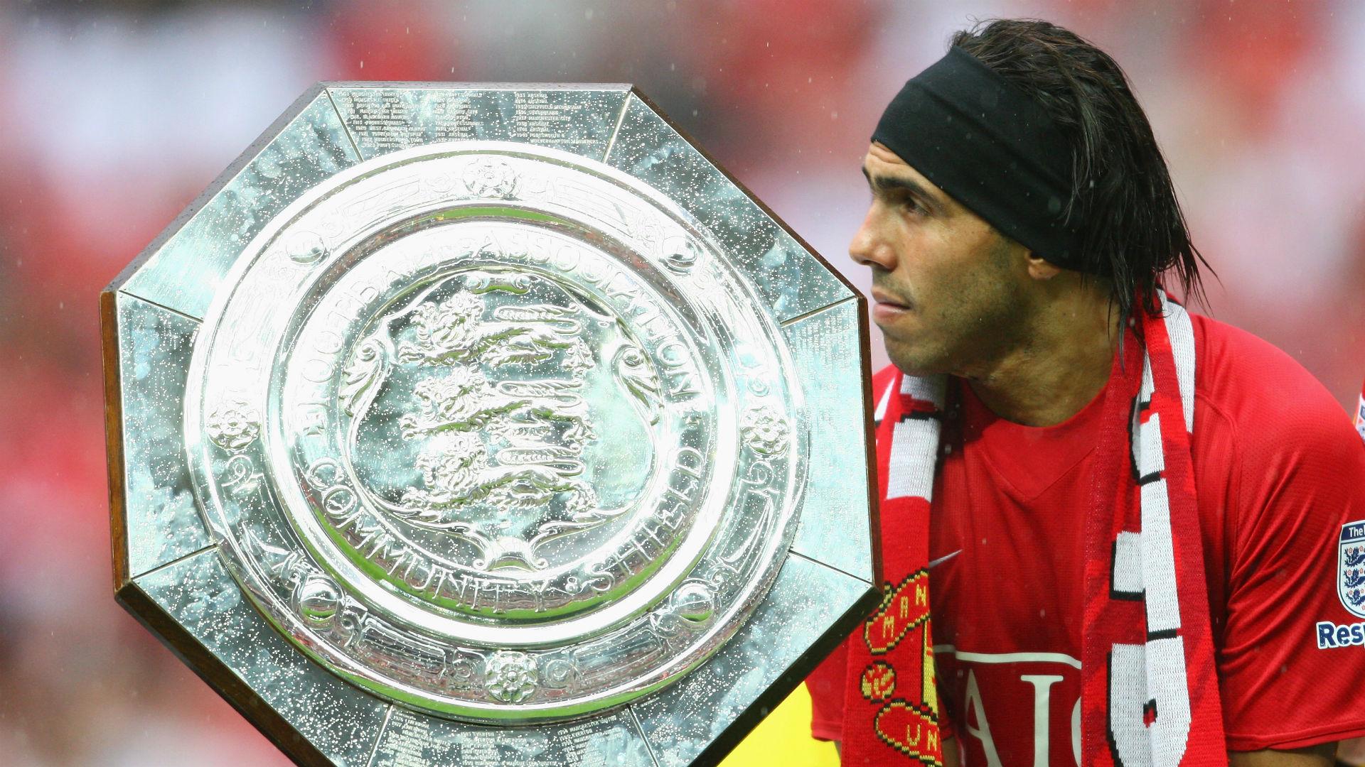 Carlos Tevez Community Shield Manchester United