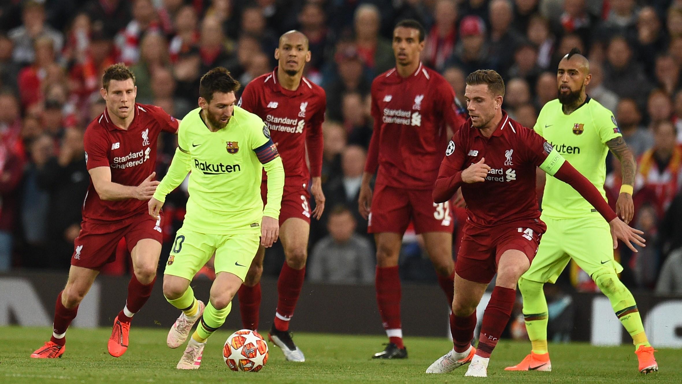 Lionel Messi Jordan Henderson Liverpool Barcelona UCL 07052019