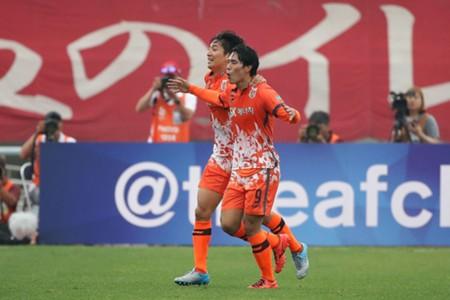 Jeju United celebrate