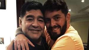 Diego Maradona and Diego Maradona jr