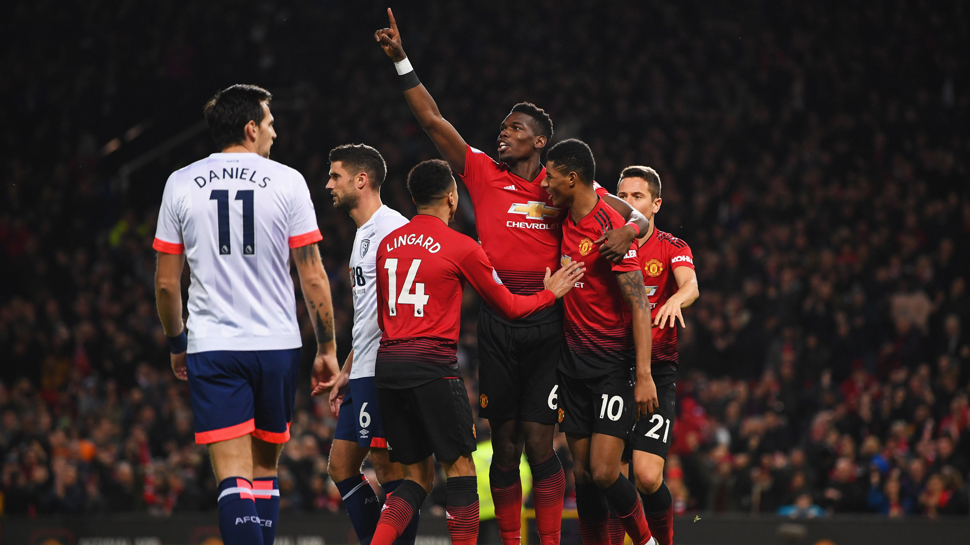 Manchester United Bournemouth Paul Pogba 30122018
