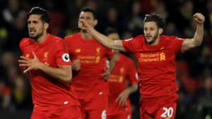 HD Liverpool celebrate Emre Can goal