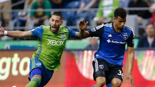 Matheus Silva Clint Dempsey San Jose Earthquakes Seattle Sounders MLS 2016