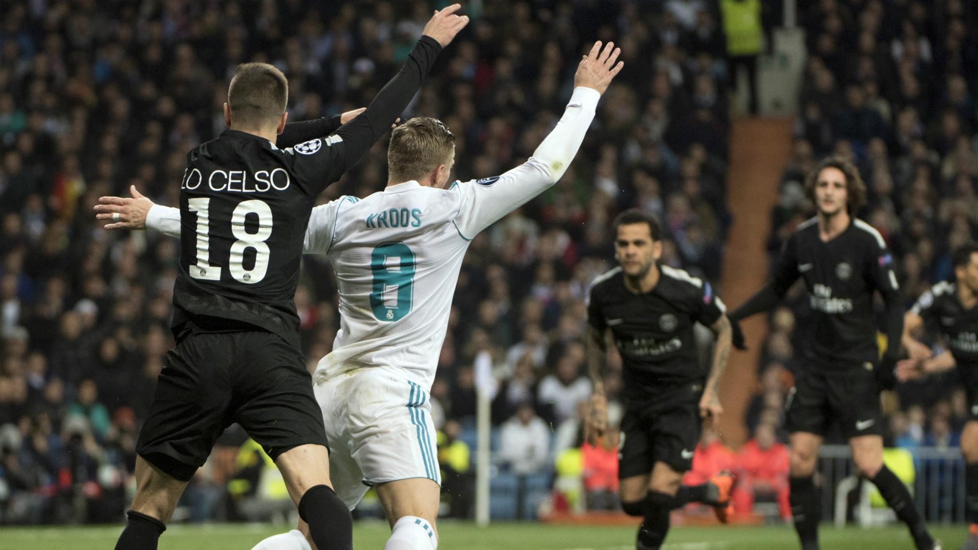 Giovani Lo Celso Toni Kroos Real Madrid PSG Champions League 14022018