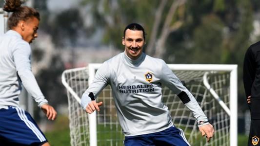 Zlatan Ibrahimovic Training LA Galaxy MLS 03302018