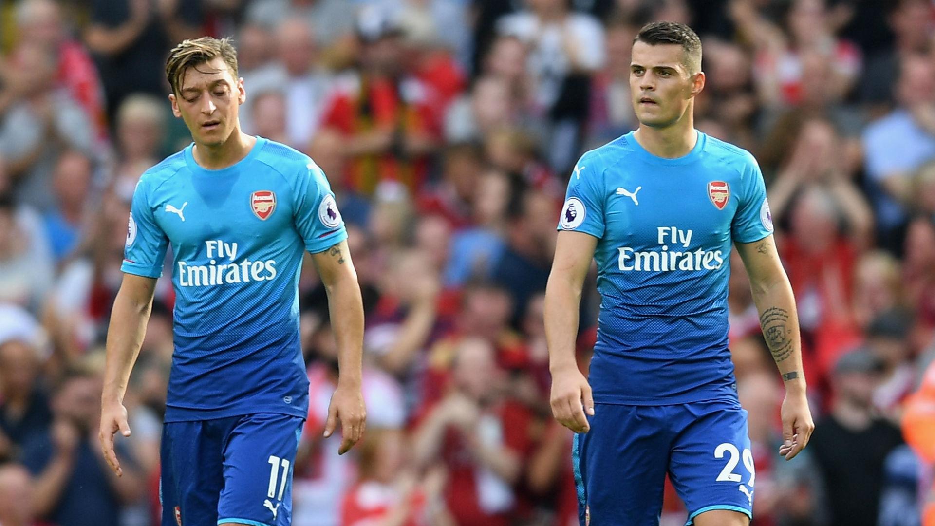 Mesut Ozil Granit Xhaka Arsenal 082717