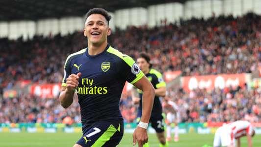 Alexis Sanchez Arsenal Stoke