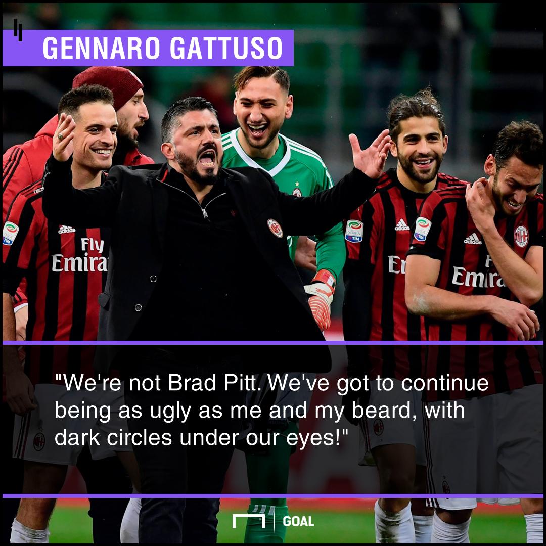 Arsenal Vs AC Milan Wenger Beware General Gattuso Has Serie A