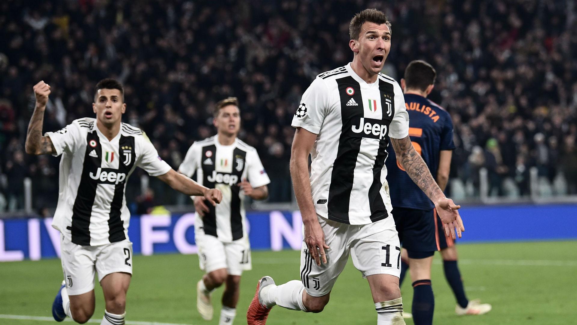 Mario Mandzukic Juventus Valencia Champions League 27112018