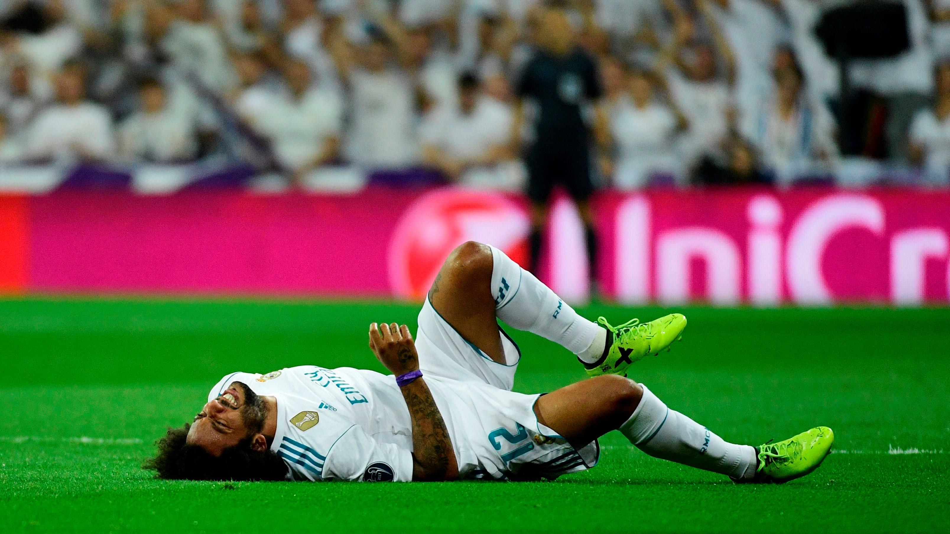 Otra mala noticia para Zidane: Marcelo, baja de 3 a 4 semanas