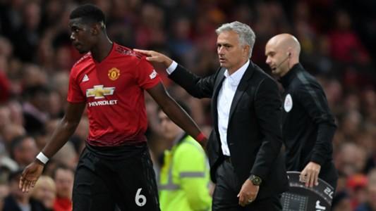 Paul Pogba Jose Mourinho Manchester United Premier League 2018