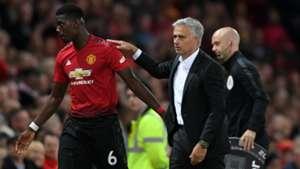 Paul Pogba Jose Mourinho Manchester United Premier League 2018
