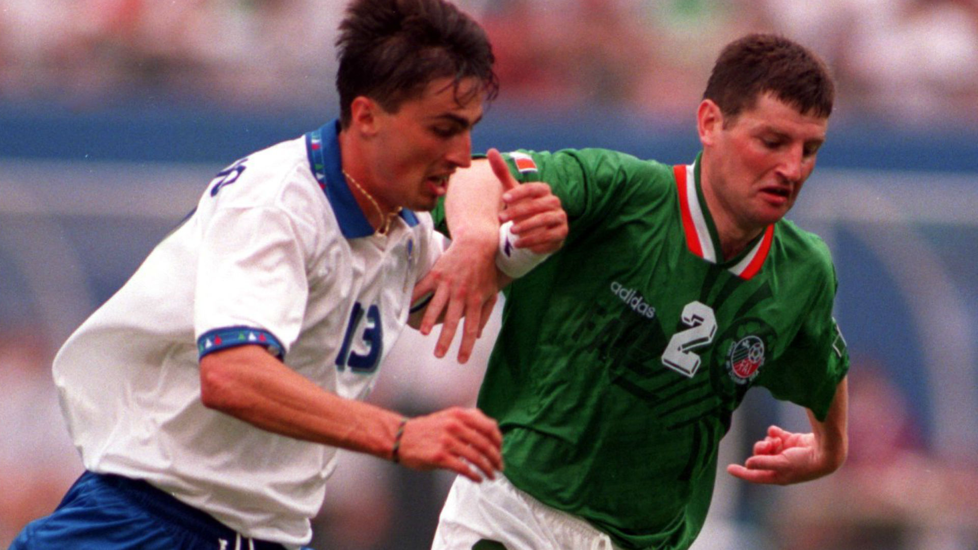 Dino Baggio Denis Irwin Italy Ireland World Cup 1994