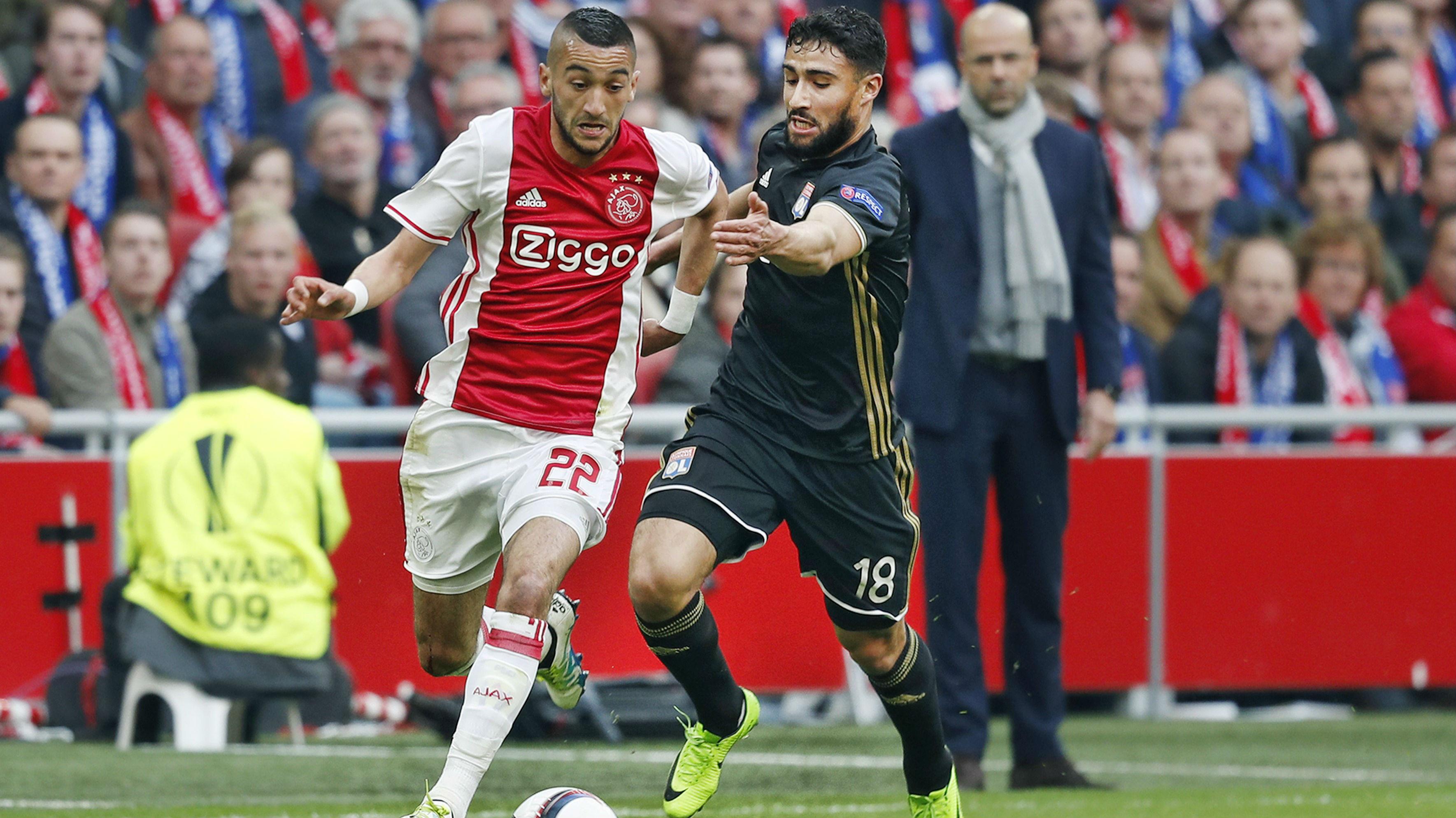 Hakim Ziyech, Kasper Dolberg, Ajax - Lyon, Europa League, 03042017 Edi