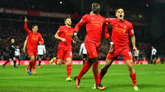 HD Sadio Mane Coutinho Lallana Firmino Liverpool celebrate