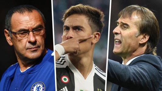 Sarri Dybala Lopetegui European Winners and Losers composite