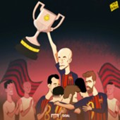 CARTOON Iniesta's Copa final