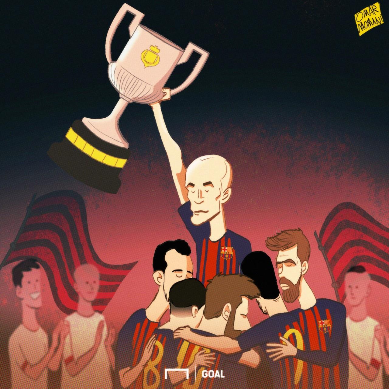 CARTOON Iniesta's Copa final