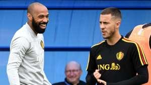 Thierry Henry Eden Hazard Belgium 2018