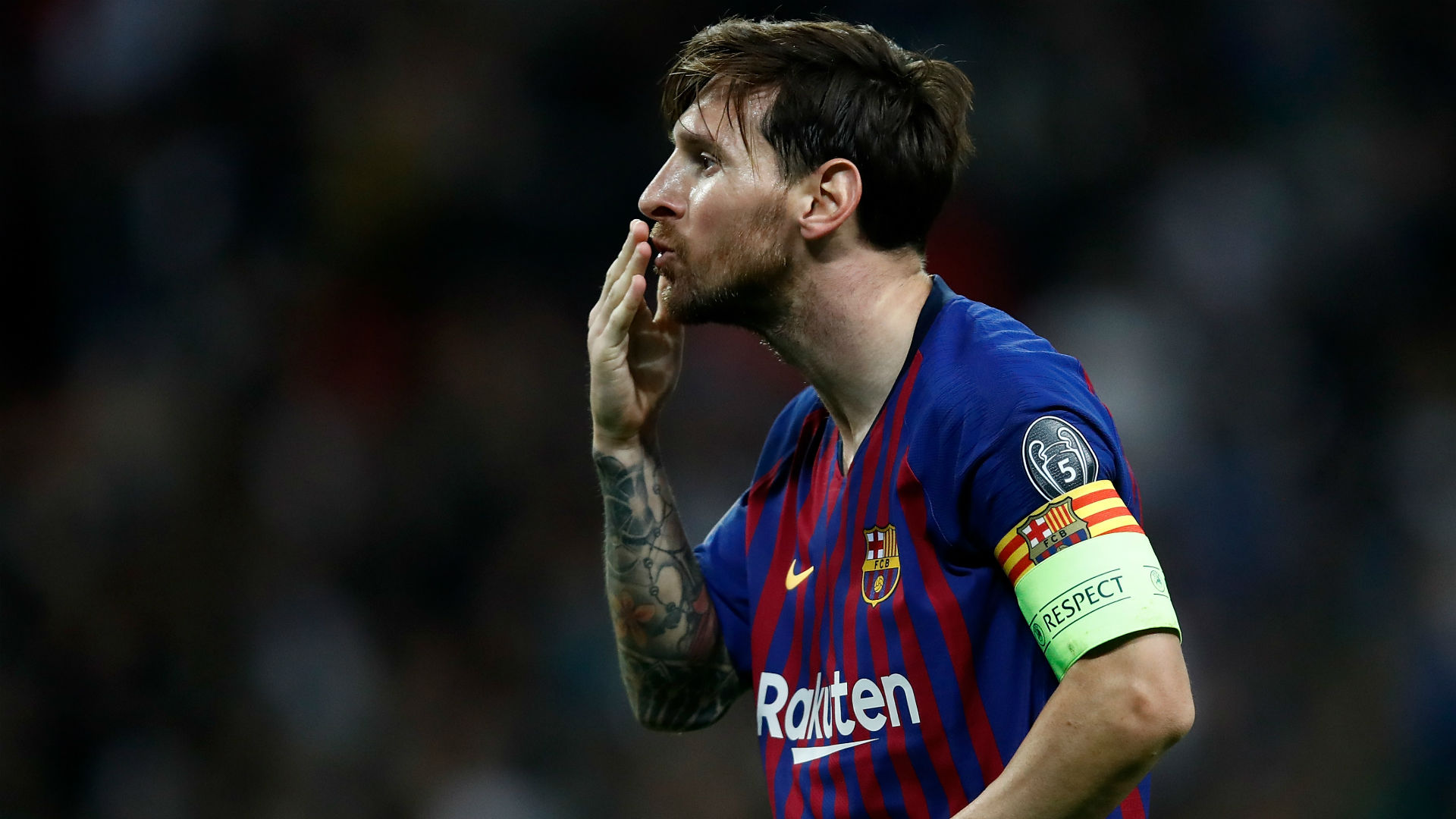 Lionel Messi Barcelona Tottenham UEFA Champions League 03102018