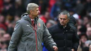 Arsene Wenger Jose Mourinho Arsenal Manchester United