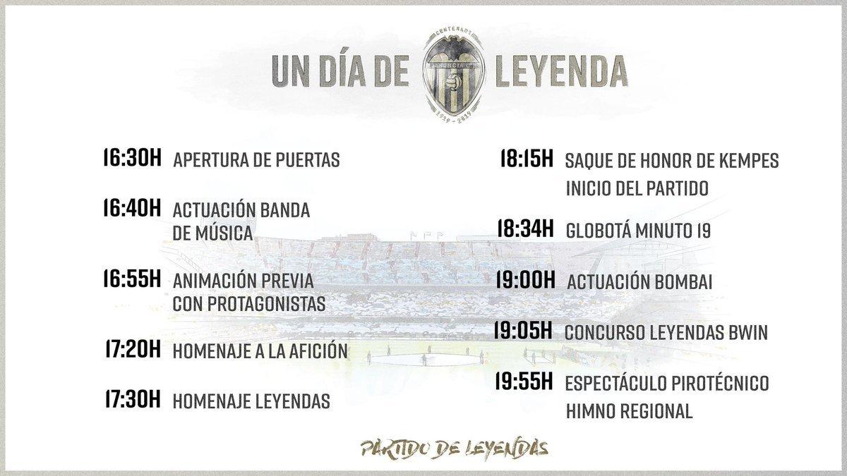 actos partido leyendas Valencia