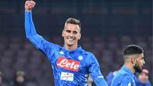 Arek Milik Napoli Sassuolo Coppa Italia