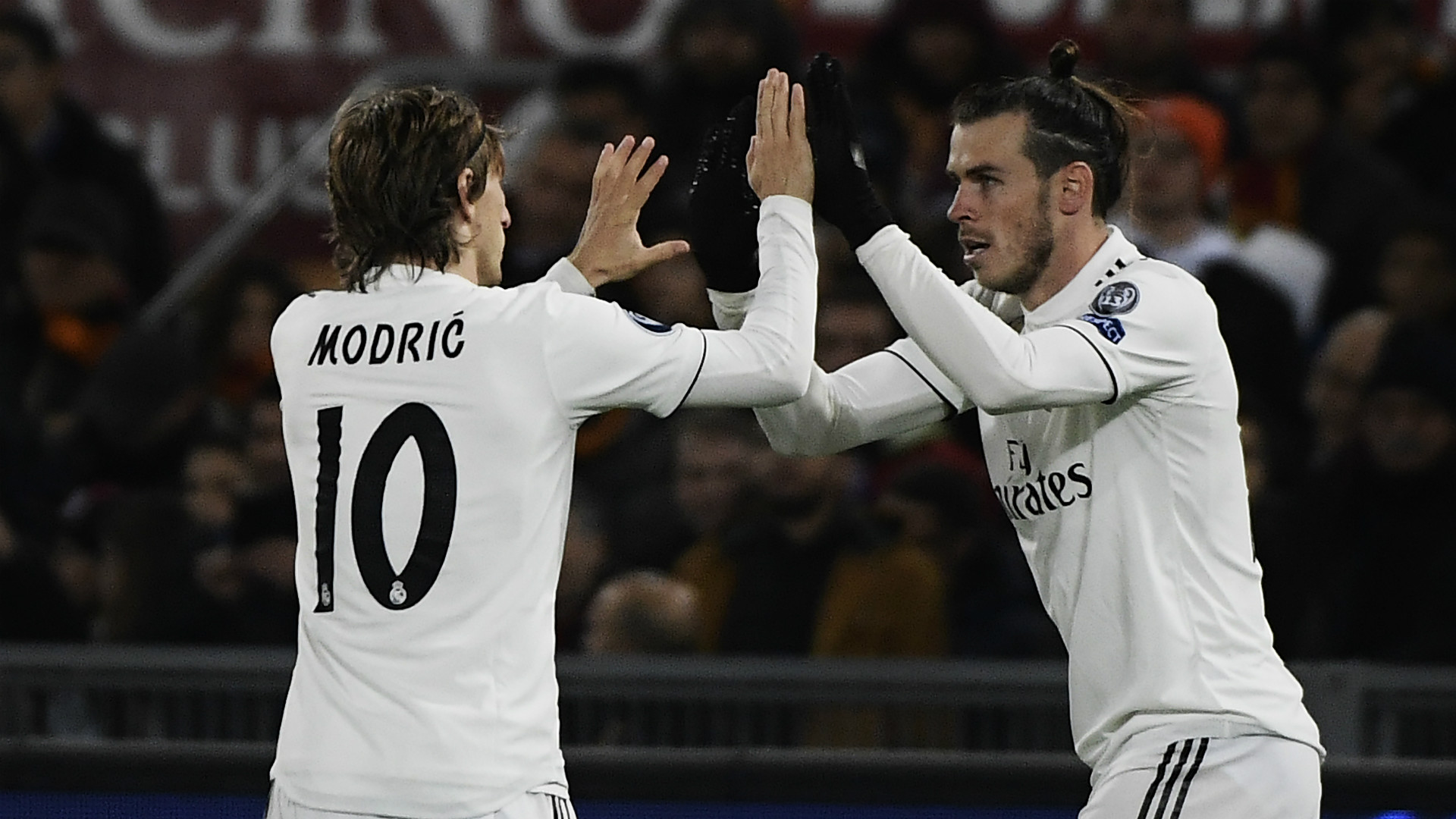 Luka Modric Gareth Bale Roma Real Madrid Champions League