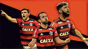 Arrascaeta Everton Ribeiro Gabigol montagem Goal Brasil 08 01 2019