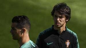 Joao Felix, Cristiano Ronaldo, Portugal training