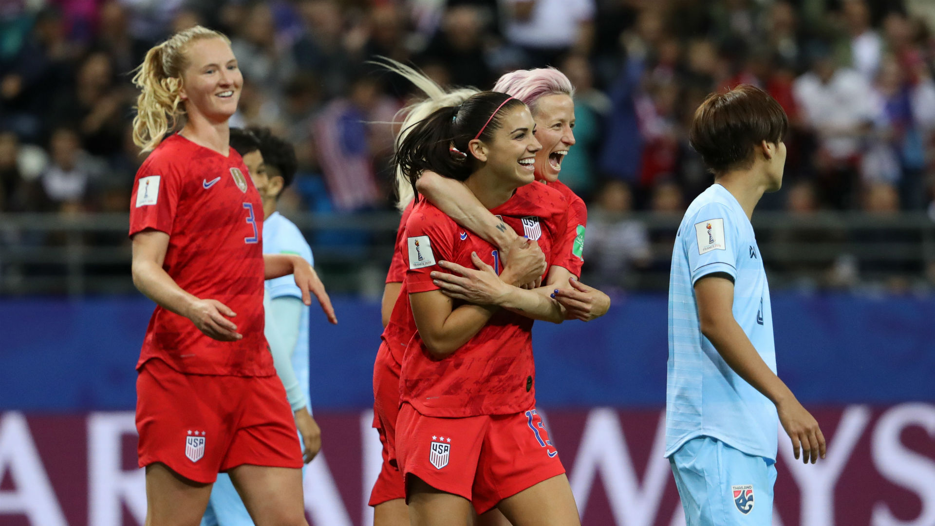 Alex Morgan Megan Rapinoe USWNT Women's World Cup 2019