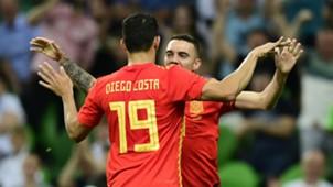 Diego Costa Iago Aspas Spain Tunisia 09062018