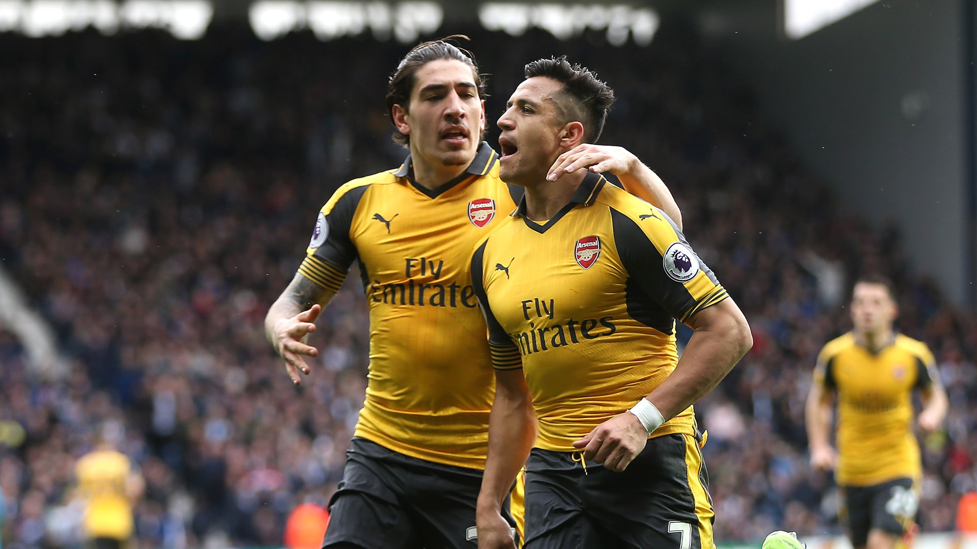 Alexis Sanchez Hector Bellerin West Brom Arsenal Premier League