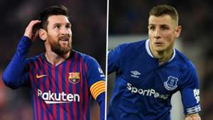 Lionel Messi Lucas Digne Barcelona Everton 2018-19