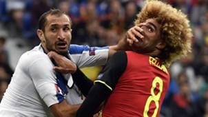 Chiellini Fellaini Belgium Italy Euro 2016