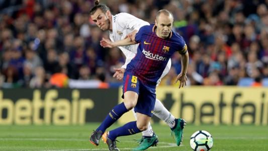 Andres Iniesta Gareth Bale Barcelona Real Madrid El Clasico LaLiga 06052018