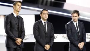 Ronaldo, Xavi, Messi, Ballon d'Or, 08252011