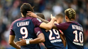 Edinson Cavani Kylian Mbappe Neymar PSG