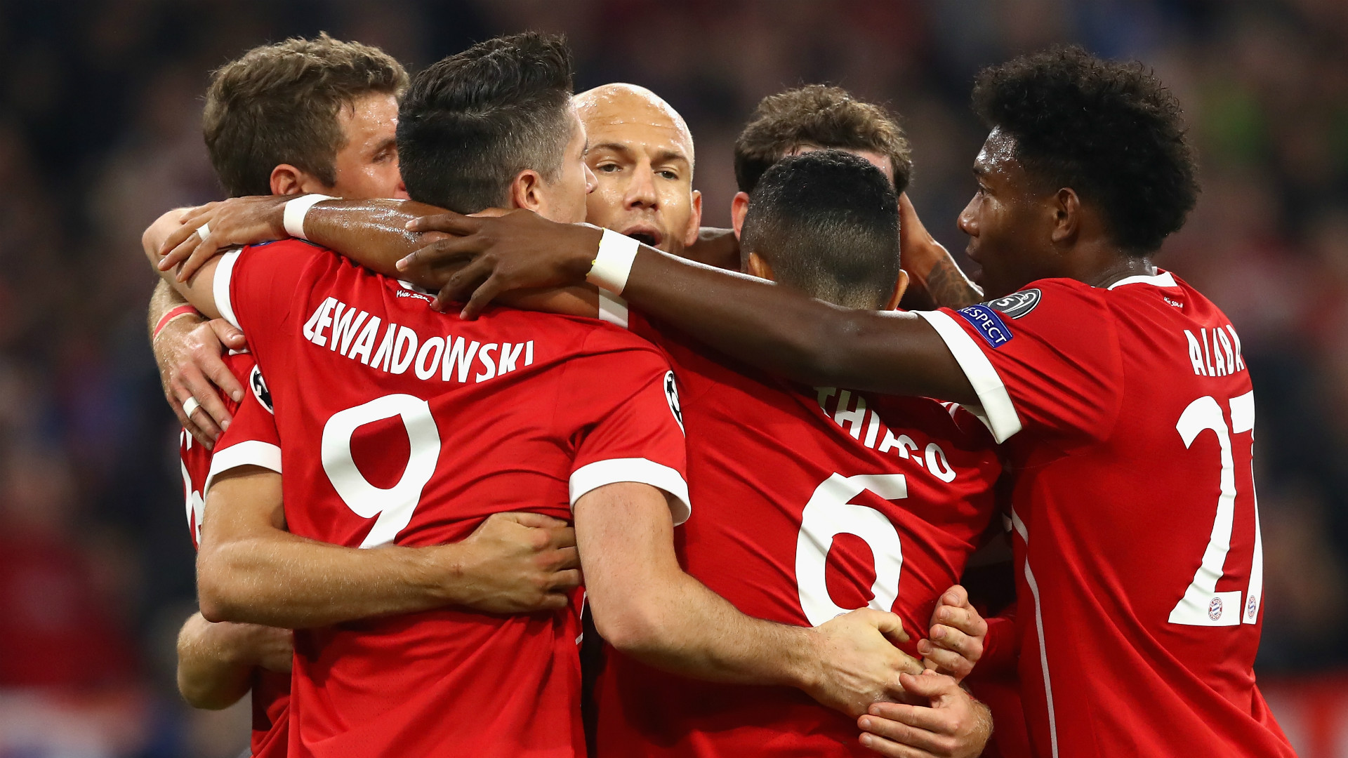 BAYERN MÜNCHEN UEFA CHAMPIONS LEAGUE 18102017