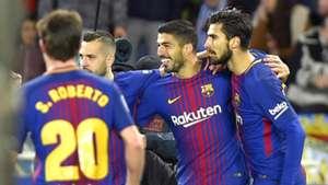 Luis Suarez Andre Gomes Jordi Alba Barcelona