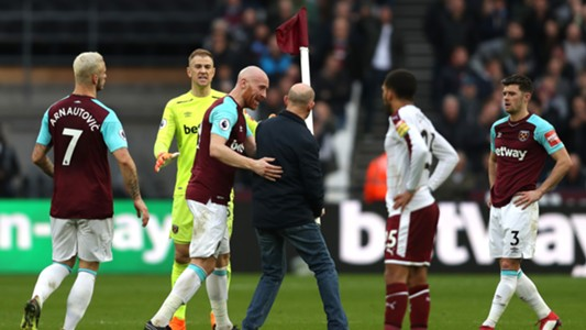 West Ham pitch invasion Burnley Premier League