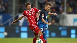 Thomas Müller Dennis Geiger Bayern München 1899 Hoffenheim 08092017