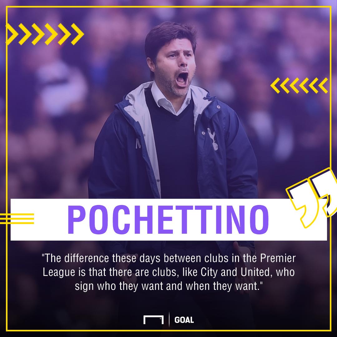 Mauricio Pchettino Tottenham Manchester United City spending