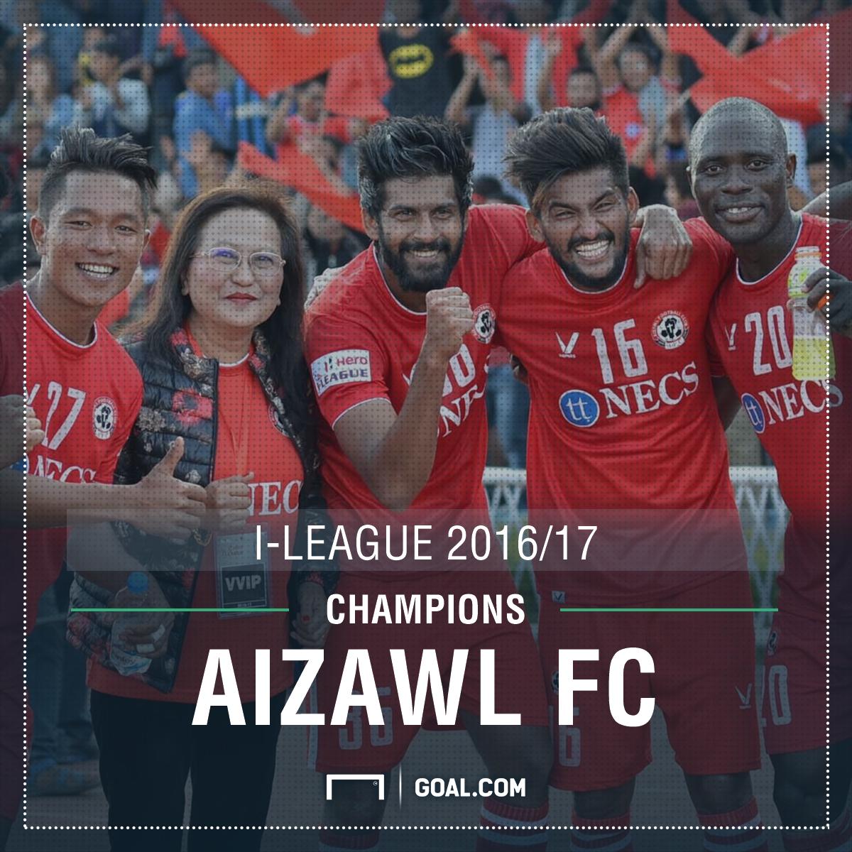 Aizawl I-League 2017 Champions PS
