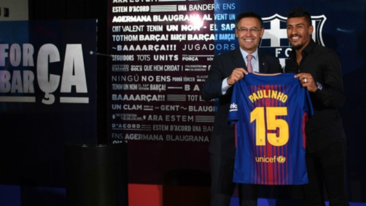 Paulinho Barcelona Unveiling 17082017
