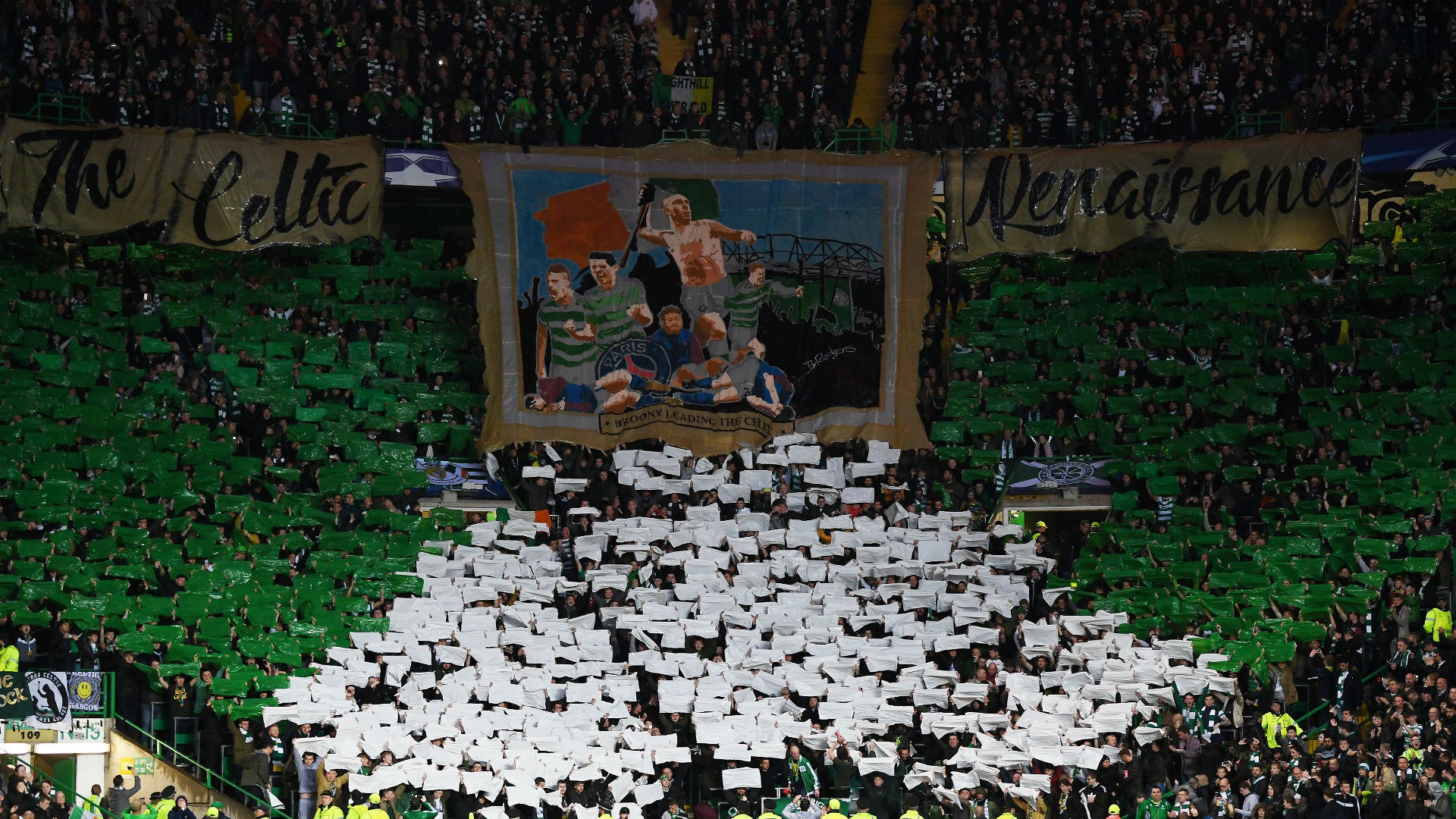 Celtic fans v PSG Champions League
