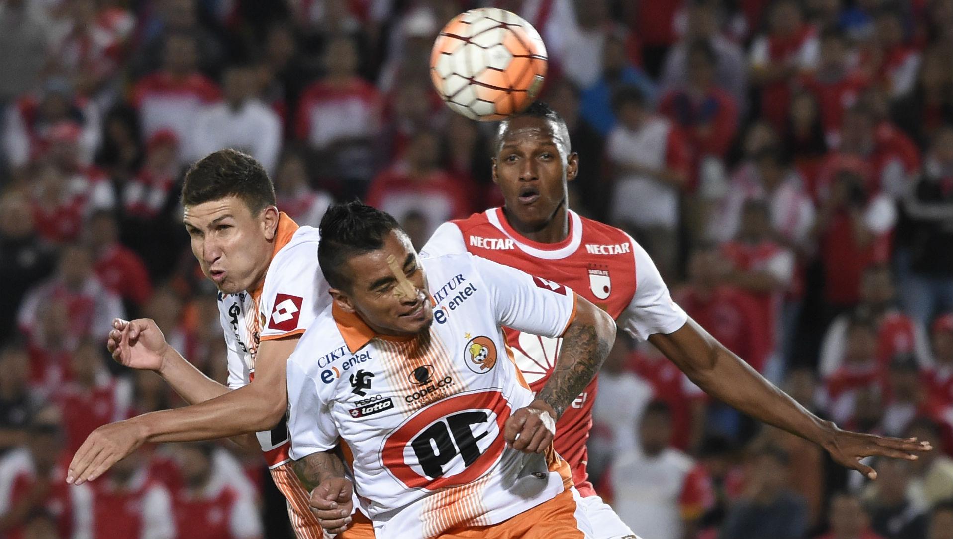 150316 Yerry Mina Diego Silva Cobresal Independiente Santa Fe